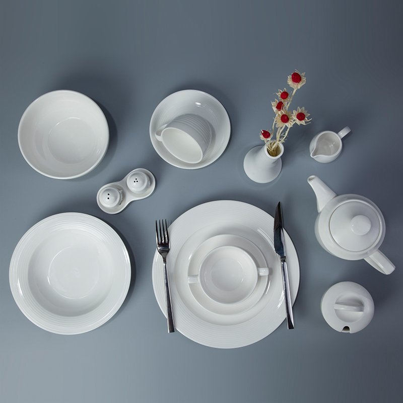 Royal Style White Porcelain Dinner Set For Restaurant u0026 Bistro - TIAN TI SERIES & Professional Manufacturing Of White Porcelain From Two Eight